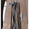 Trójnóg składany z rusztem 78 cm INOX z rolką i kołowrotkiem