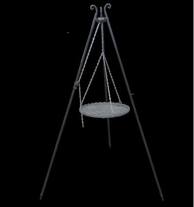 Trójnóg składany z rusztem 55 cm z rolką i zaczepem